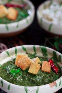 creamy spinach and tofu curry | yumsome.com