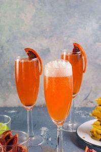 gin + blood orange mimosa