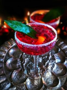 pomegranate new year's punch