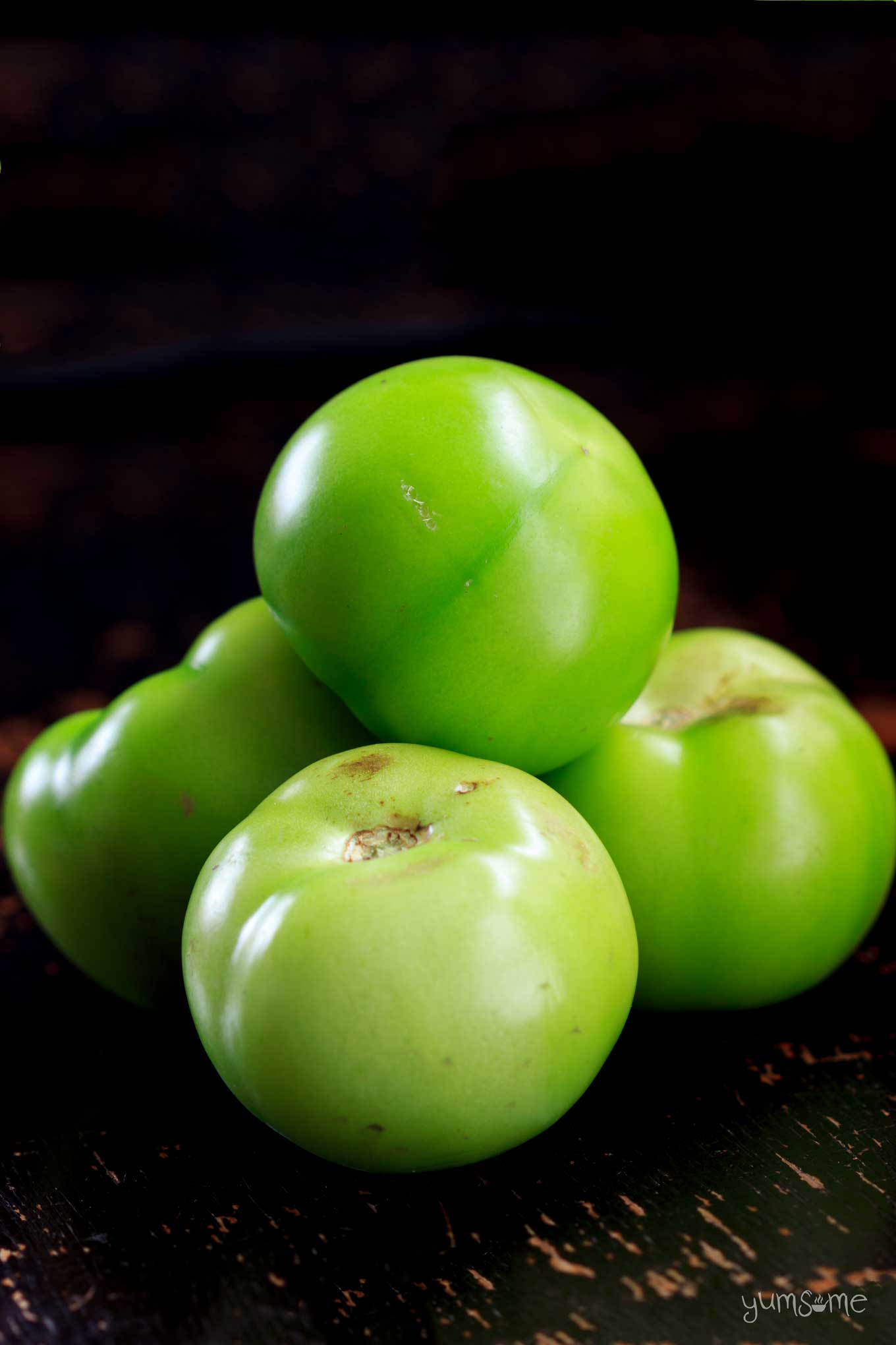 Green tomatoes.