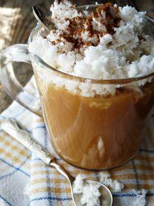 vegan caramel oat milk coffee