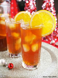 orange ginger sparkling iced tea