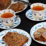 afternoon tea with vegan english tea loaf and earl grey tea | yumsome.com