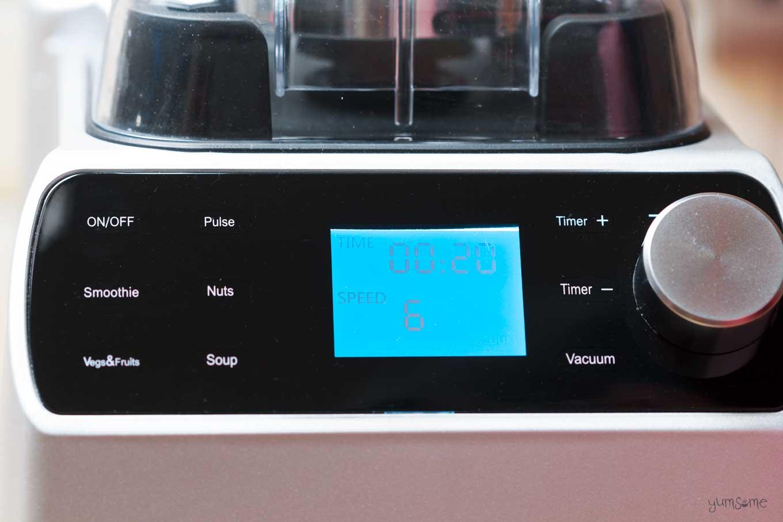 control panel for froothie optimum vac2 air vacuum blender | yumsome.com