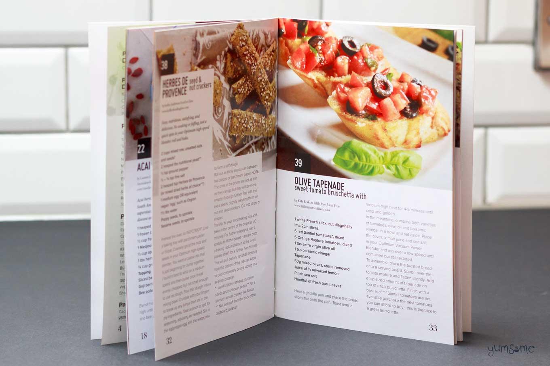 inside froothie optimum vac2 air vacuum blender recipe book | yumsome.com