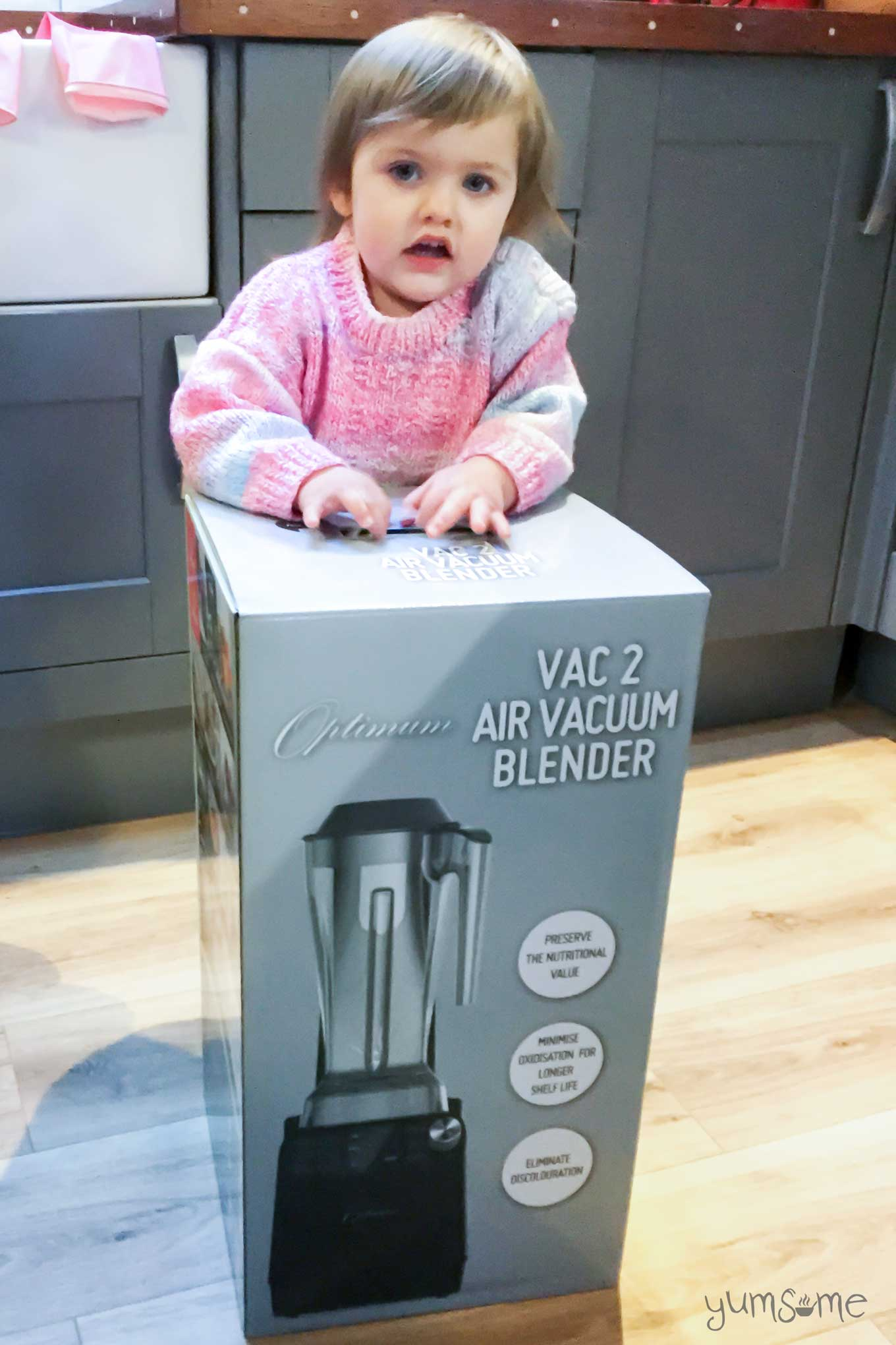 Raven and the froothie optimum vac2 air vacuum blender box | yumsome.com