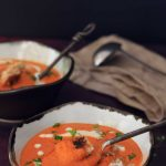 Creamy vegan tomato bisque.