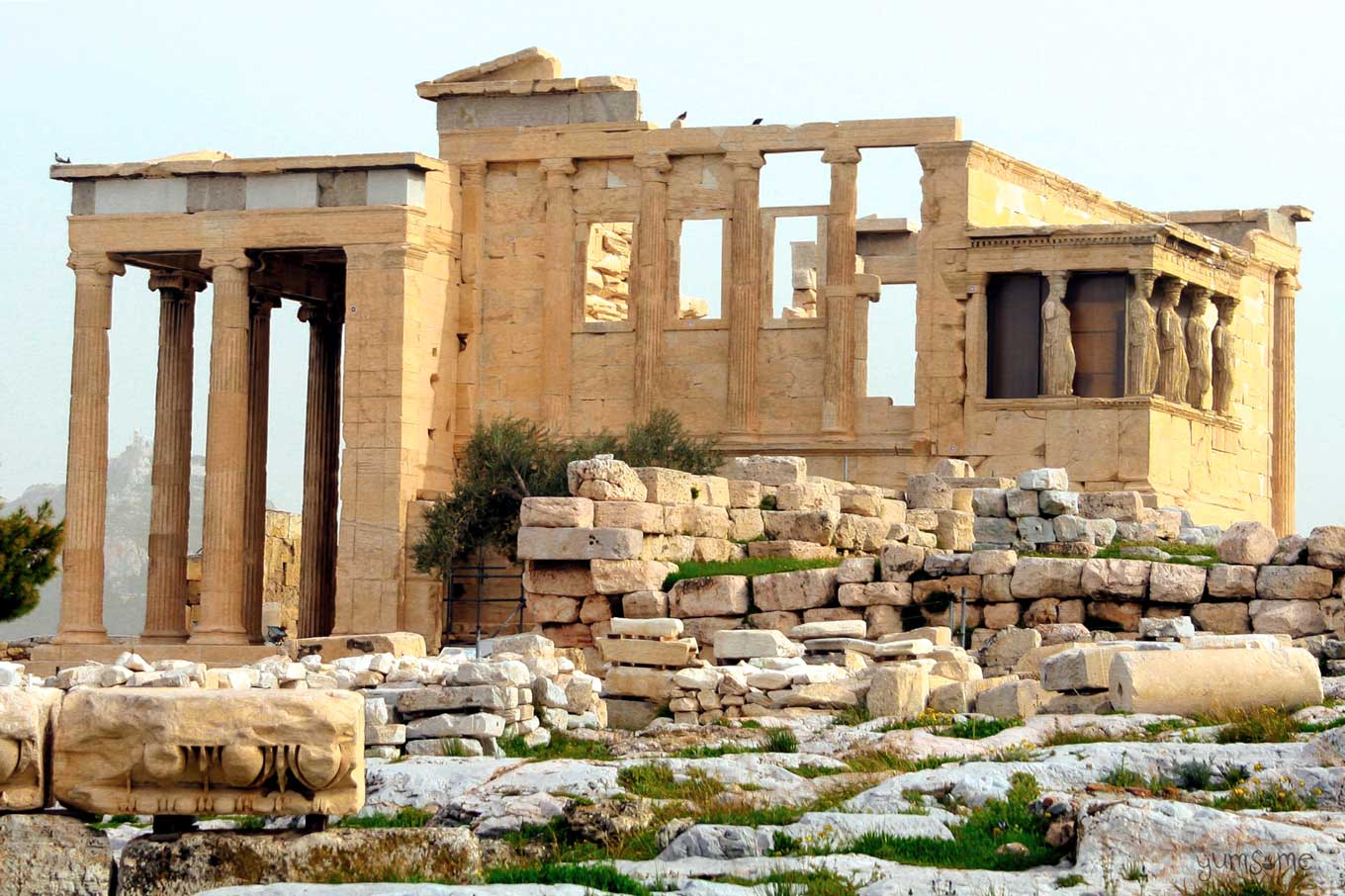 The Erechtheion at the Acropolis of Athens | yumsome.com