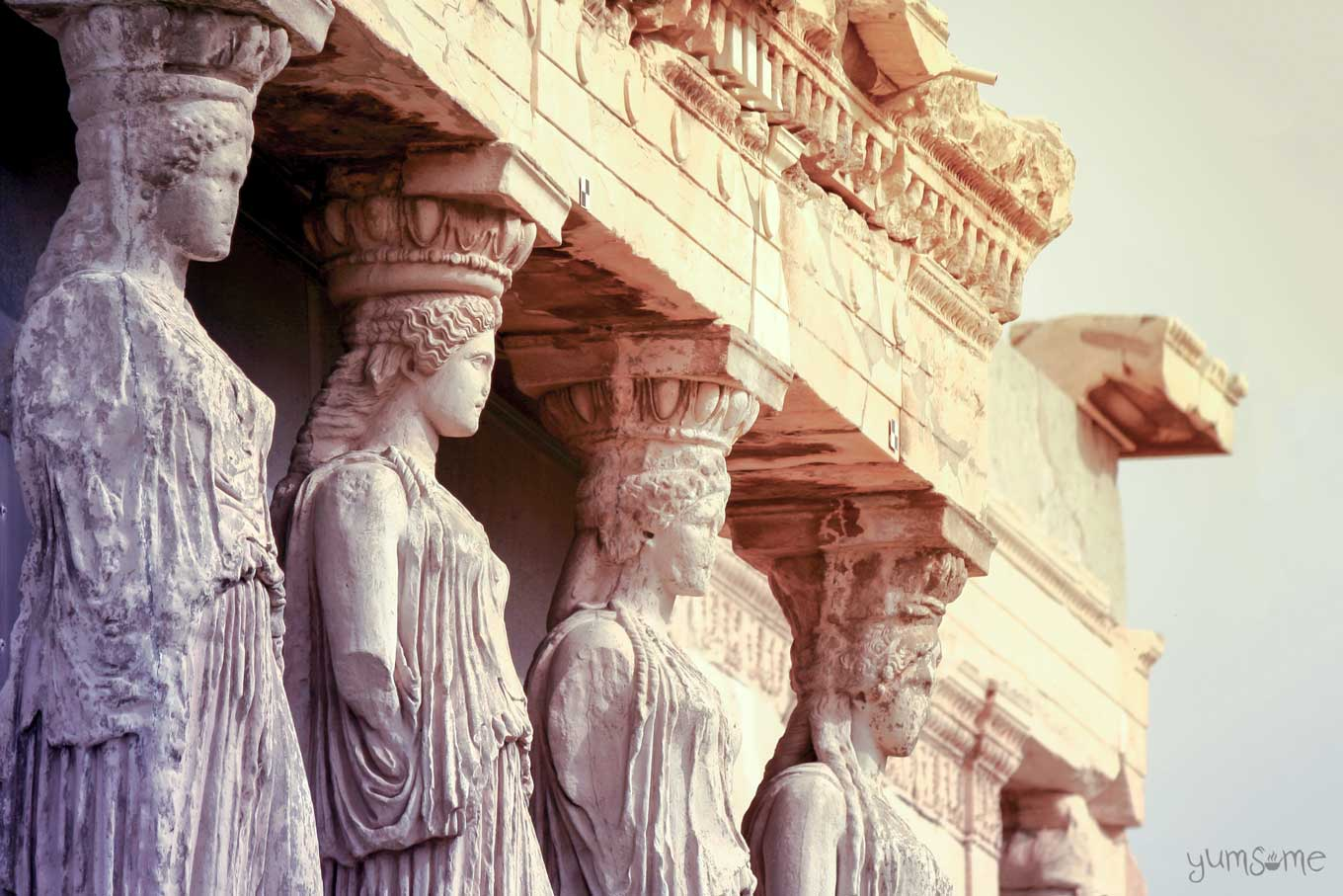 porch of the caryatids | yumsome.com