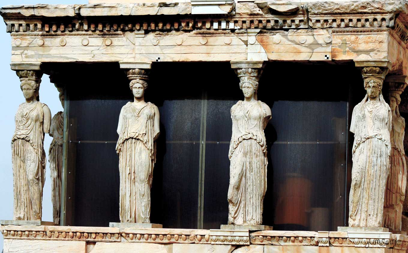 porch of the maidens (caryatids) | yumsome.com