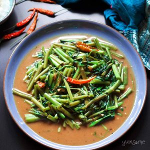 Thai stir fried morning glory vegan thai stir fried morning glory yumsome forumfinder Choice Image