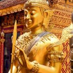 Golden karana mudra Bodhisattva at Wat Phra That Doi Suthep.