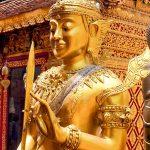 Golden karana mudra Bodhisattva at Wat Phra That Doi Suthep.