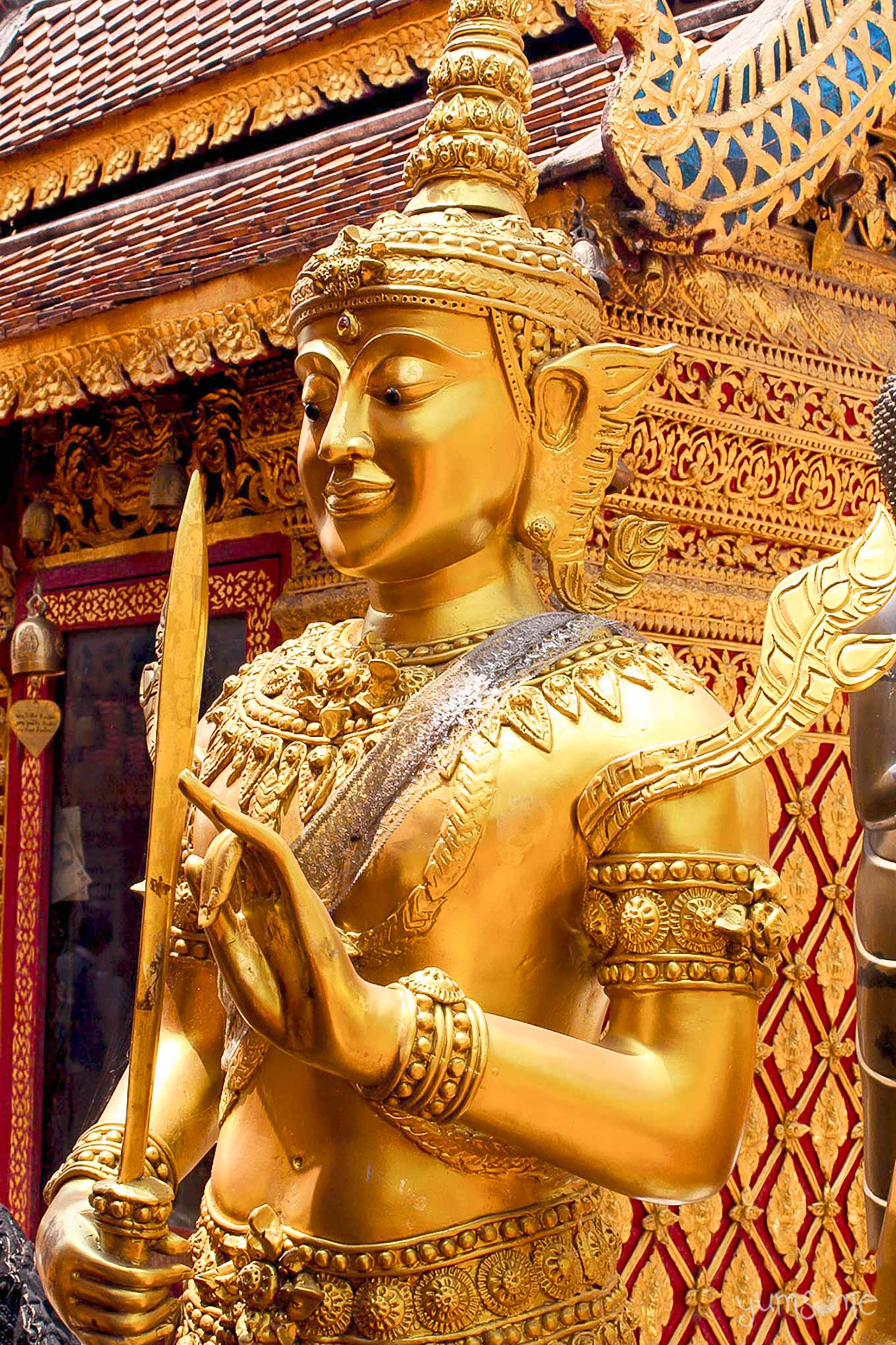 Golden karana mudra Bodhisattva at Wat Phra That Doi Suthep