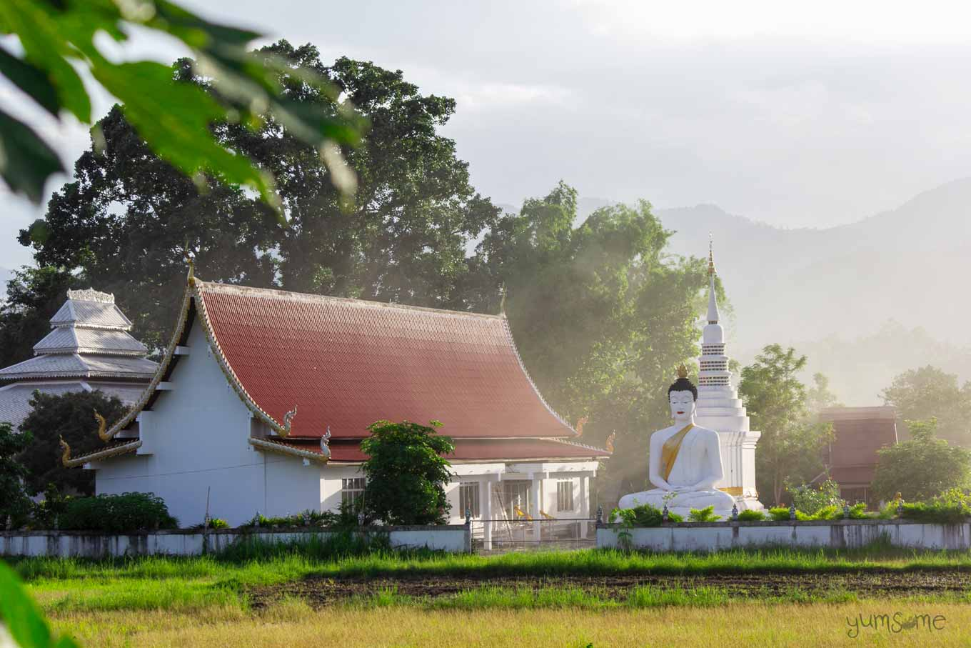 Buddhist temple in Mae Hee, Thailand.