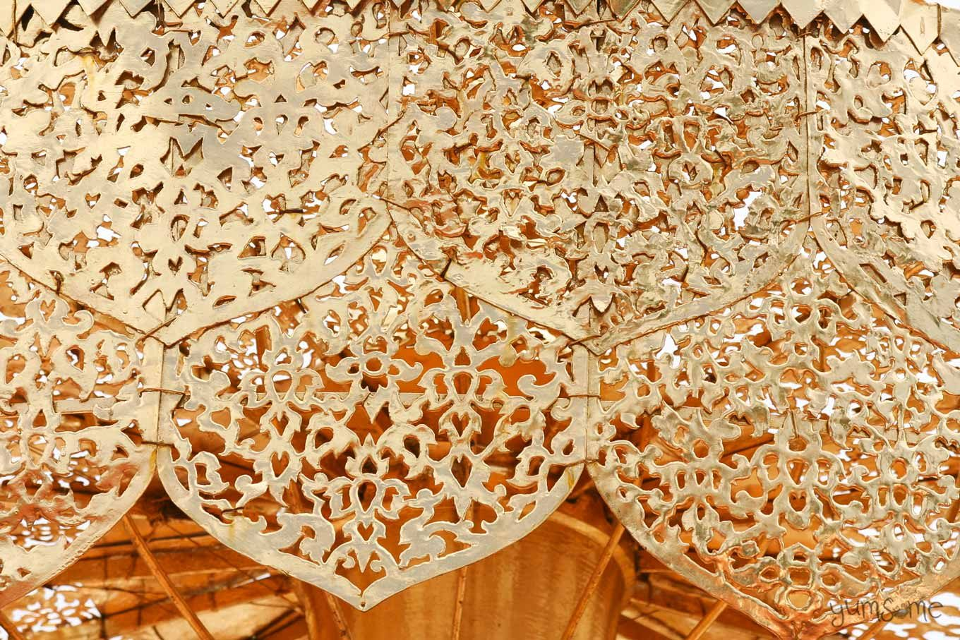 Filigree detail of a chatra at Wat Doi Suthep.