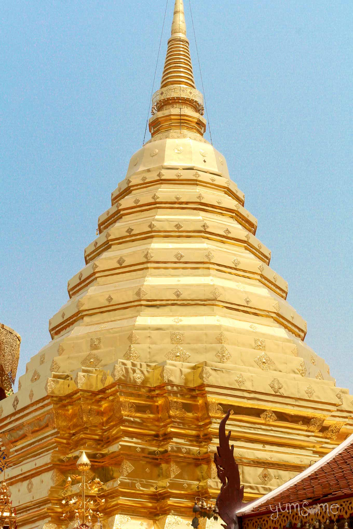 Mid-section of the chedi at Wat Phra That Doi Suthep.