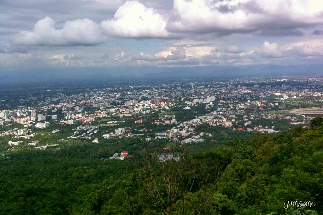 Clear view of Chiang Mai from Wat Doi Suthep.