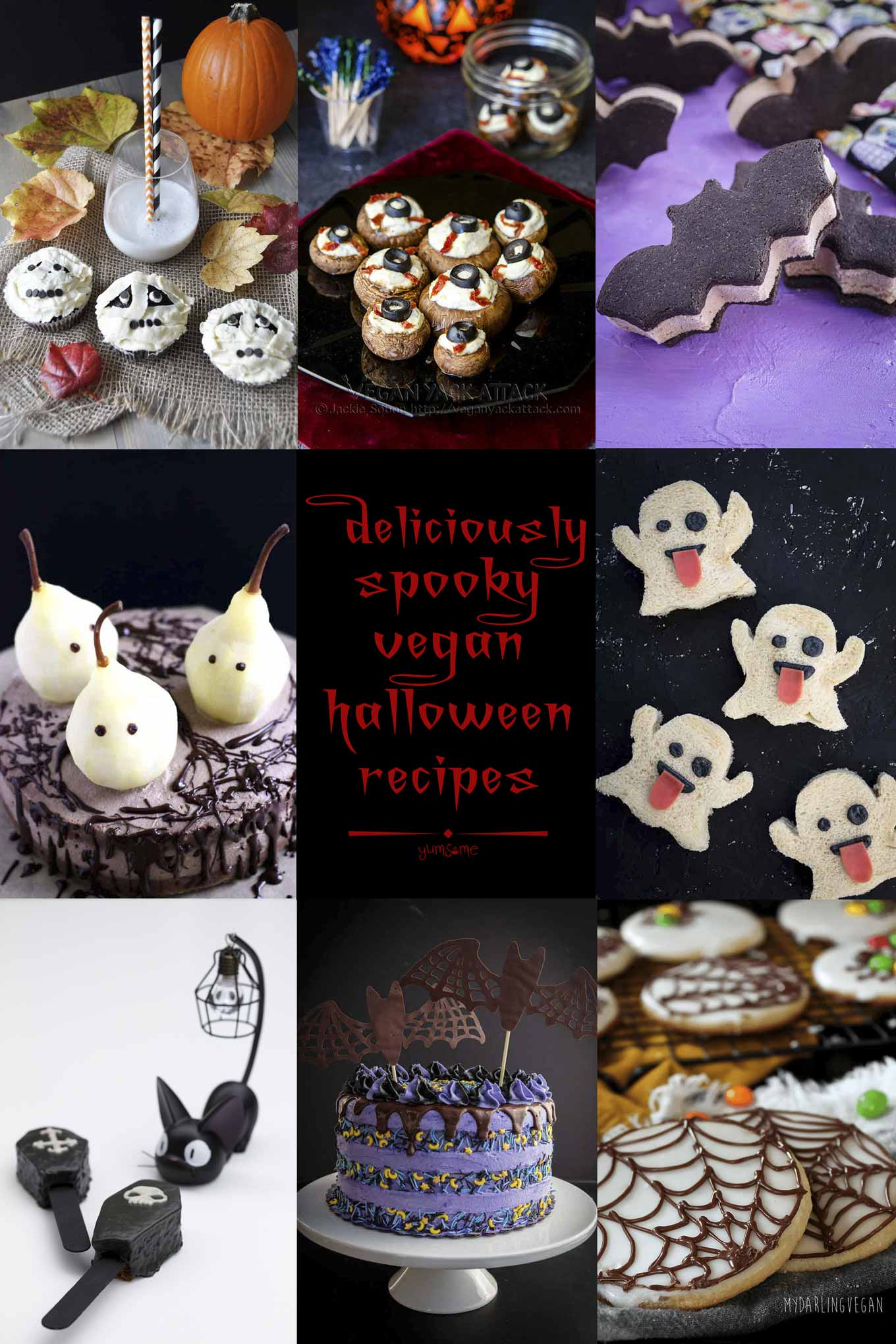Are you planning a #vegan #Halloween #party, and stumped for ideas? Or perhaps wondering which #devilish vegan treats you can make for all the wee #ghosts and #ghoulies who\'ll be knocking at your door? Fear not, for help is at hand, with this collection of #deliciously #spooky vegan Halloween #recipes... guaranteed to put the \'ooh\' into Booooo! | yumsome.com