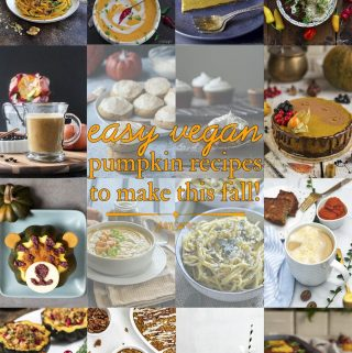 Pinterest collage of vegan pumpkin recipes.