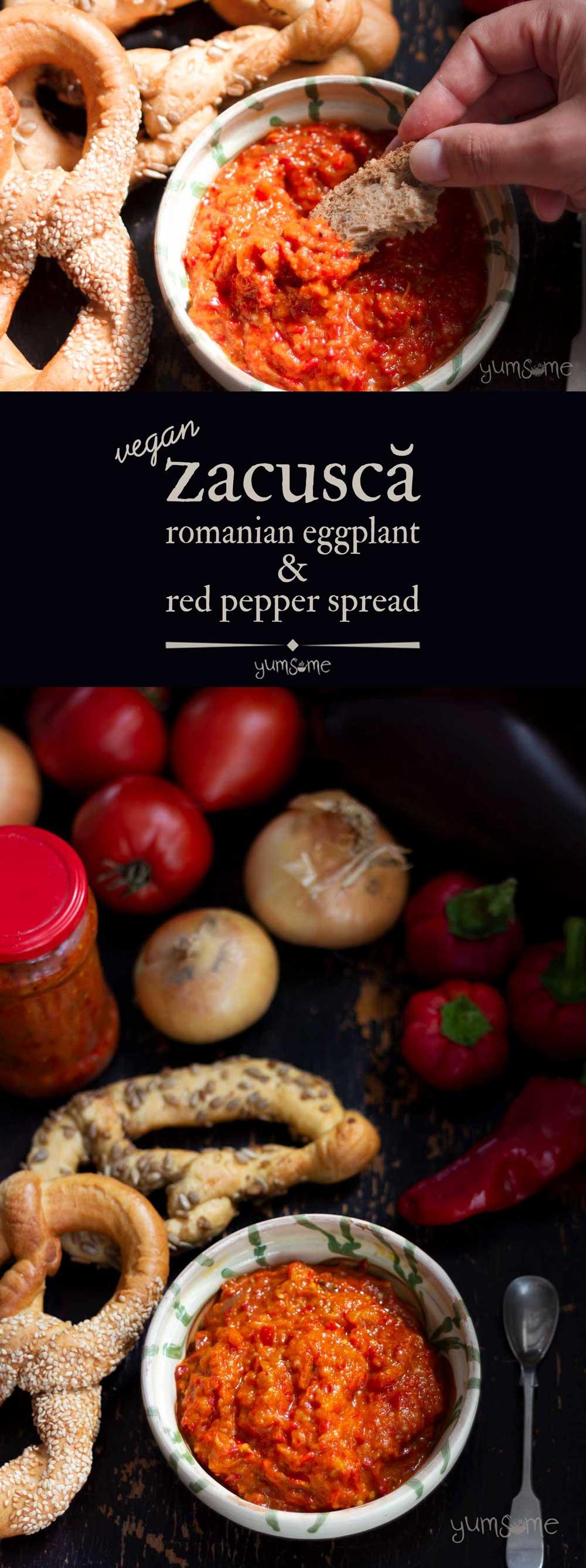 Zacuscă - Romanian eggplant and red pepper spread