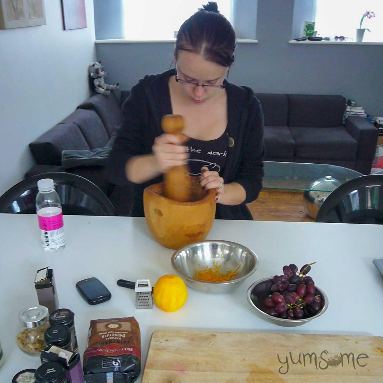 Making masala chai concentrate.