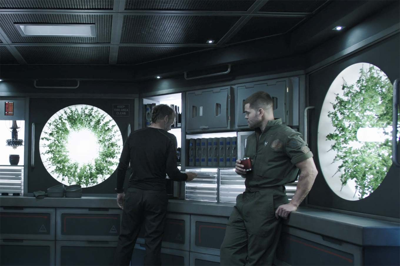 Miller and Amos in the Rocinante galley.