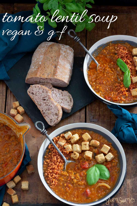 Easy Crockpot Tomato Lentil Soup