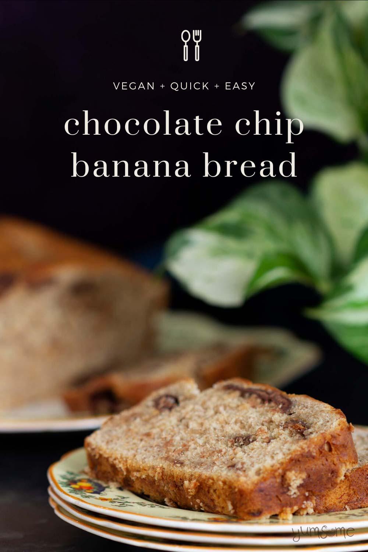 Chocolate Chip Banana Bread (vegan)