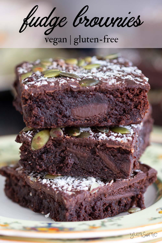 Fudge Brownies (vegan & gluten-free)
