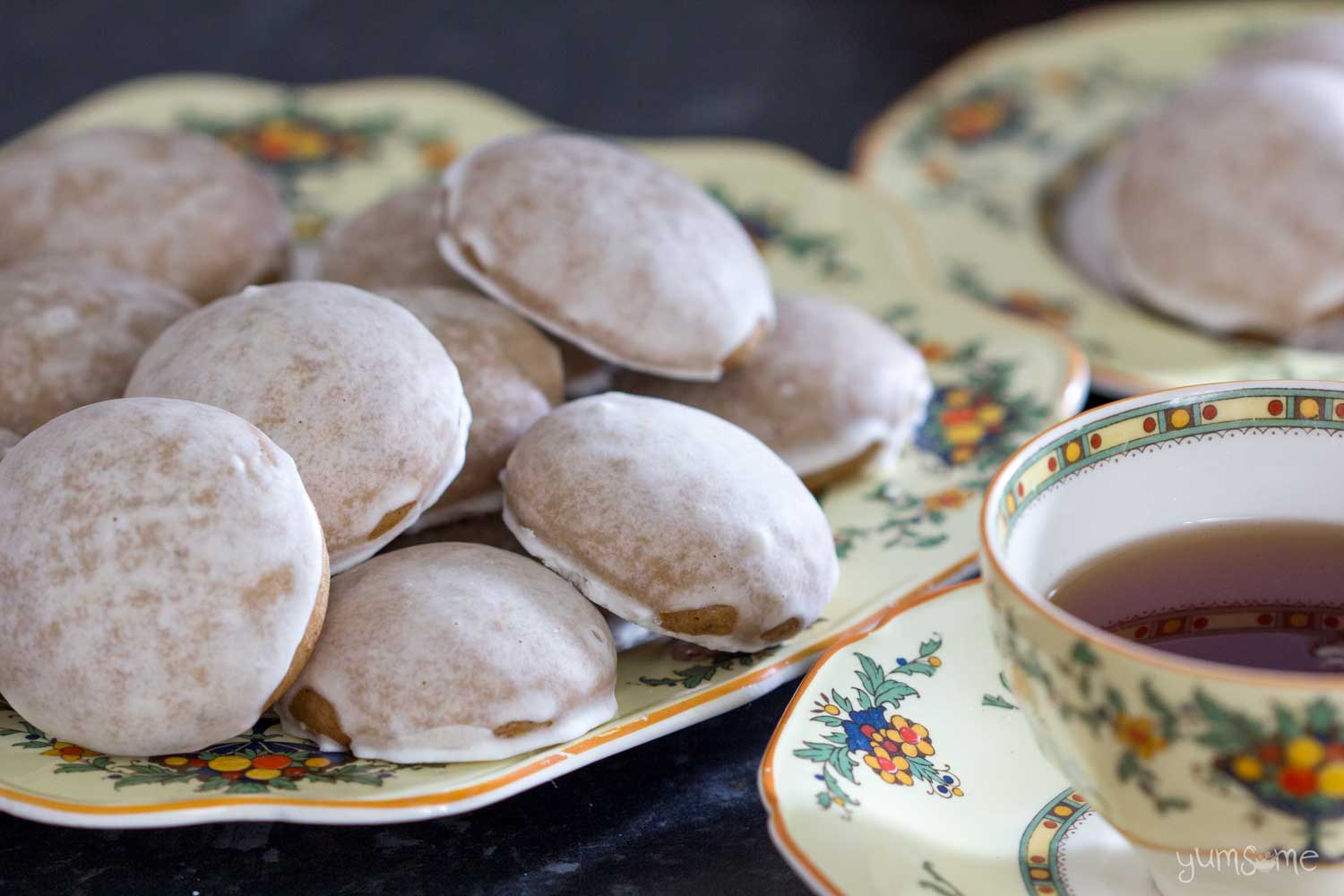 Soft gingerbread cookies and a cup of tea.