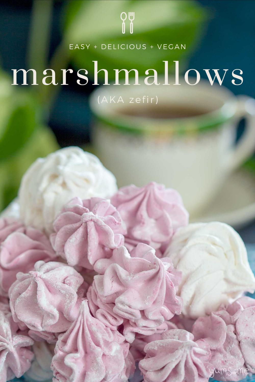 Easy Vegan Marshmallows (Zefir)